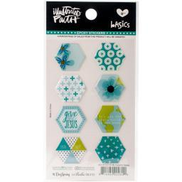 Illustrated Faith Basics Hexies Epoxy Stickers Oh My Heavens