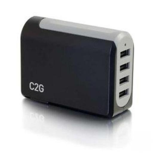 C2g 20277 c2g 4-port usb wall charger - ac to usb adapter, 5v 4.8a output - usb phone char