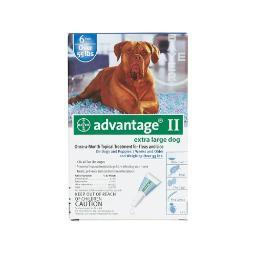 Advantage Blue-100-6 Advantage Flea Control For Dogs And Puppies Over 55 Lbs 6 Month Supply