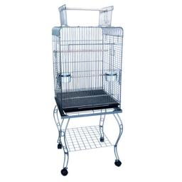 YML 600HCP 20 in. Open Top Parrot Cage With Stand - Antique Copper