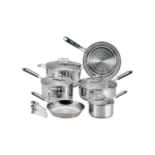 T-Fal 6500565 PerformaPro Stainless Steel Cookware Set Silver