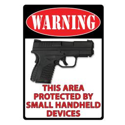 Rivers Edge Products 1489 Rivers Edge Products 1489 Warning- This Area Protected Tin Sign