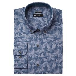 Bar III Mens Wear Me Out Slim Fit Camouflage Dress Shirt