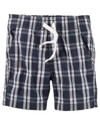 Carter's Baby Boys' Woven Short- Navy Plaid- 9 Months