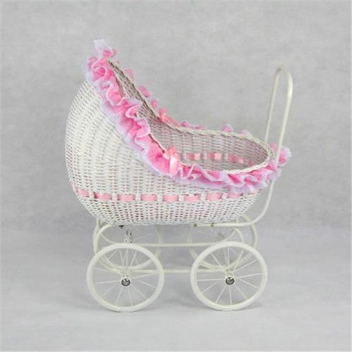 Regal Doll Carriages P668 Isabella Wicker Doll Carriage Buggy Stroller Pram Large 4E868E6B51C31EA7