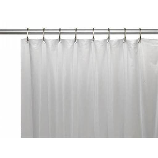 Carnation Home Fashions USC-10-XL-10 70 x 84 in. 10 Gauge Vinyl Shower Extra Long Curtain Liner with Metal Grommets & Reinforced Mesh Header, Frosty C