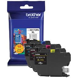 Brother international corporat lc30173pk brother genuine high yield xl  color ink cartridges 3 pack - 1 ea. cyan, mage