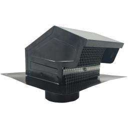 Builders Best 012635 Black Metal Roof Vent Cap (4 Collar)