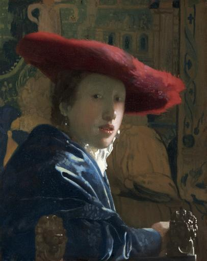 Girl With The Red Hat, By Johannes Vermeer, C. 1665-66, Dutch Painting, Oil On Canvas. Portrayed With Spontaneity And Informality, The Girl Makes.