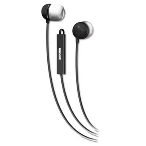 In-Ear Buds with Built-in Microphone, Black-White
