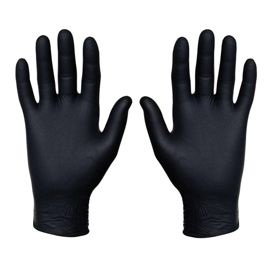 Sysco 4685594 nitrile food service gloves, 100 count (medium, black)