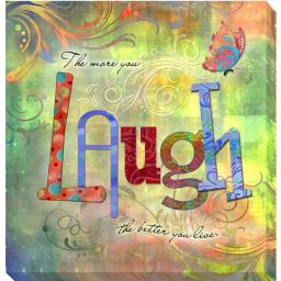 Artistic Home Gallery 1212705G Laugh by Connie Haley Premium Gallery-Wrapped Canvas Giclee Wall Art 1212705G