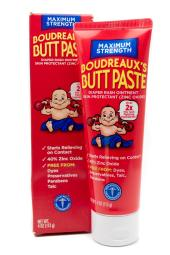 Boudreaux's BUTT PASTE Maximum Strength Diaper Rash Ointment and Skin Protectant   4oz