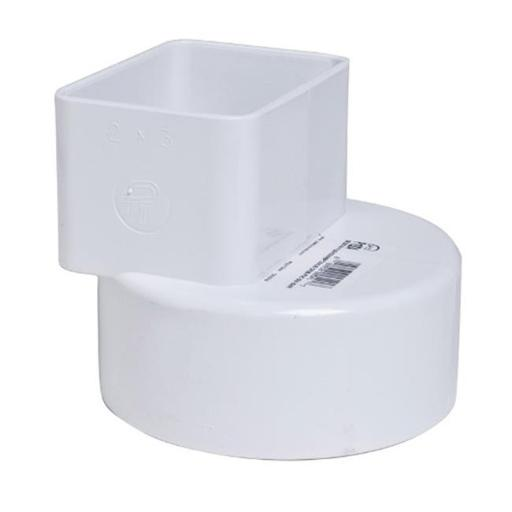 Plastic Trends P1924 PVC Flush Downspout Adapter 2 x 3 x 4 in.