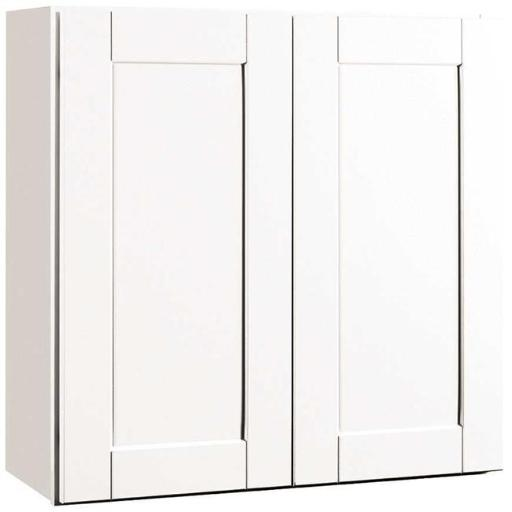 Continental Cabinets Cbkw3030-Ssw Rsi Home Products Andover Shaker Wall Cabinet White 30X30 In.