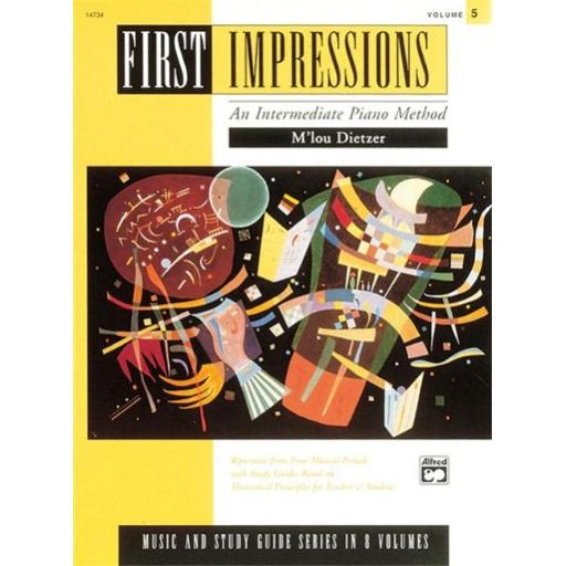 Alfred 00-14734 First Impressions- Music and Study Guides- Volume 5 - Music Book