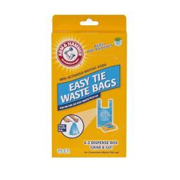 Petmate 71041 Blue Petmate Arm And Hammer Easy-Tie Waste Bags 75 Count Blue 1.5 X 4.5 X 8.5