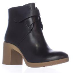A7EIJE Veda Block Heel Pull On Ankle Boots, Black
