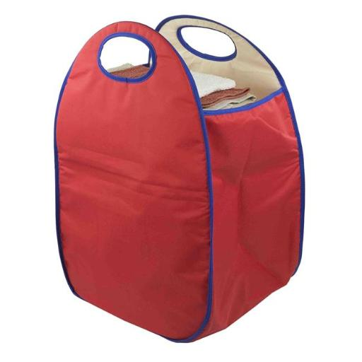 Laundry Hamper Basket with Carrying Handle - Red