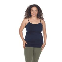 White Mark Universal PS133-02 Plus Size Tank Top, Navy - One Size PS133-02