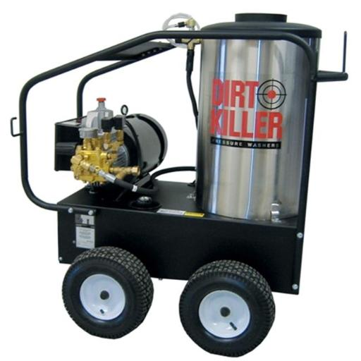 Dirt Killer 9800224-s E3000-3PH Hot Water 3000 PSI, 4.0 GPM, 220V-440V, 3PH, Electric Pressure Washer