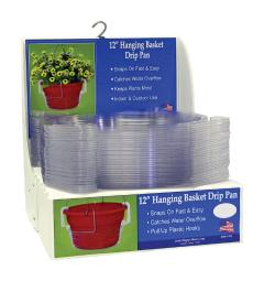 CWP Plastic Hanging Basket Drip Pan Clear - Case Of: 30;