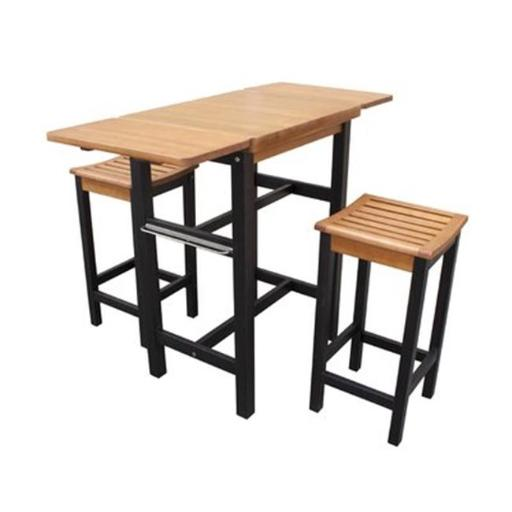 Merry Products TBS0330213300 Kitchen Island Table Two Stool Set