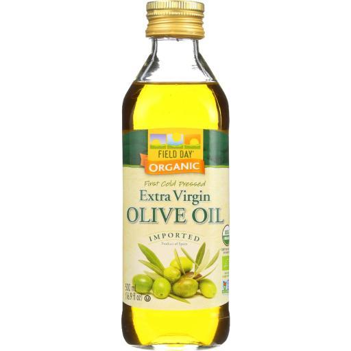 Field Day Olive Oil - Organic - Extra Virgin - Imported - Glass Bottle - 500 ml - case of 12