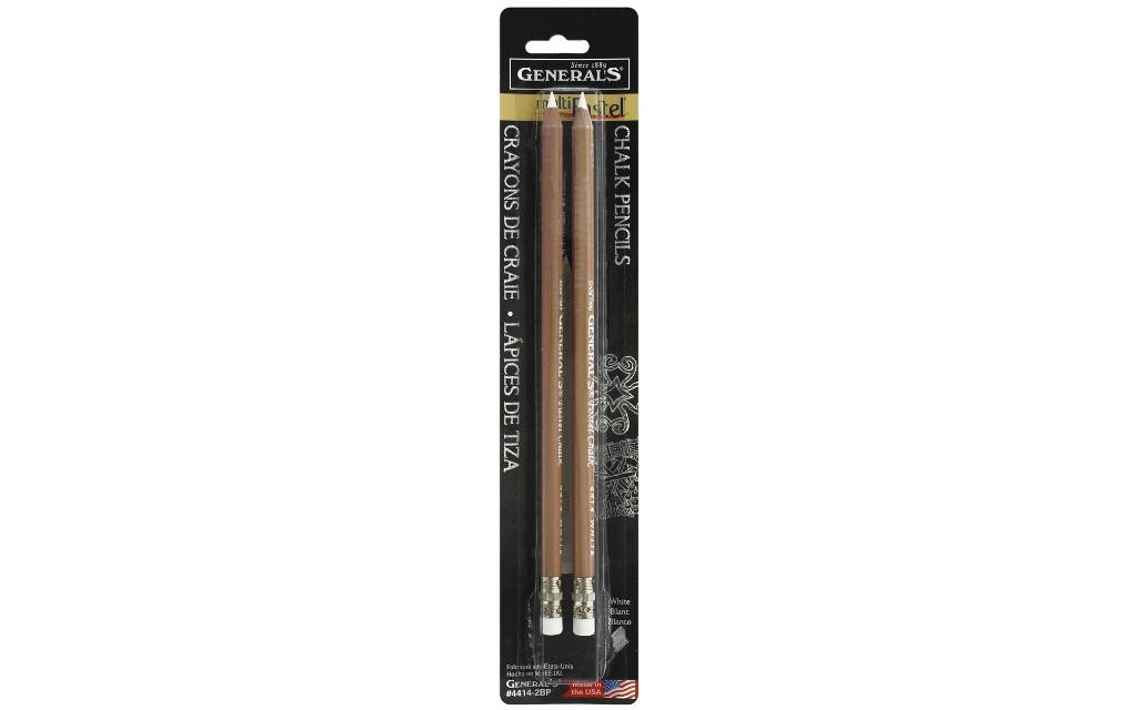 4414-2bp general s multipastel chalk pencil white 2pc