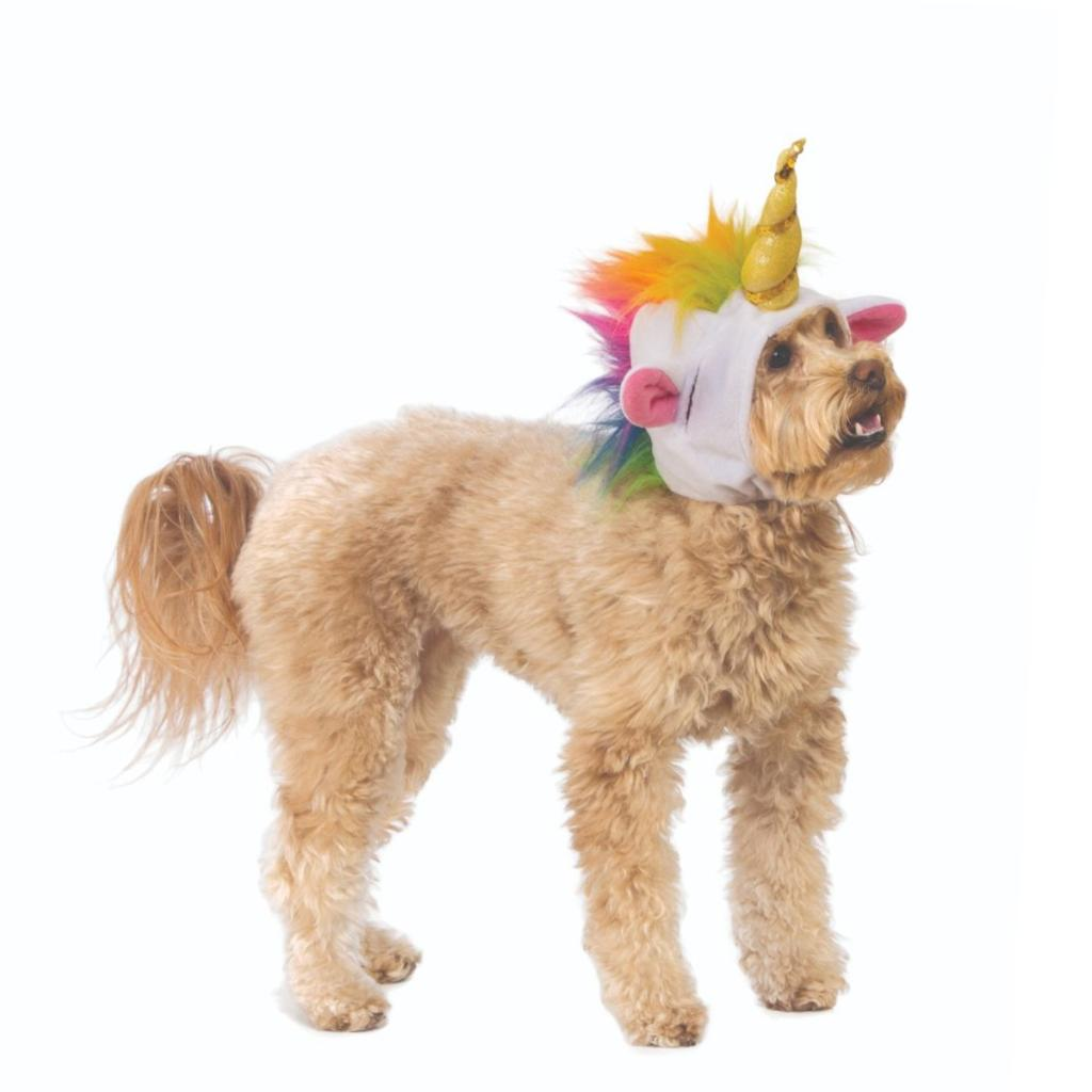 Unicorn Hood Pet Costume Dog Cat Halloween  Cosplay Funny Cat Horn Gift