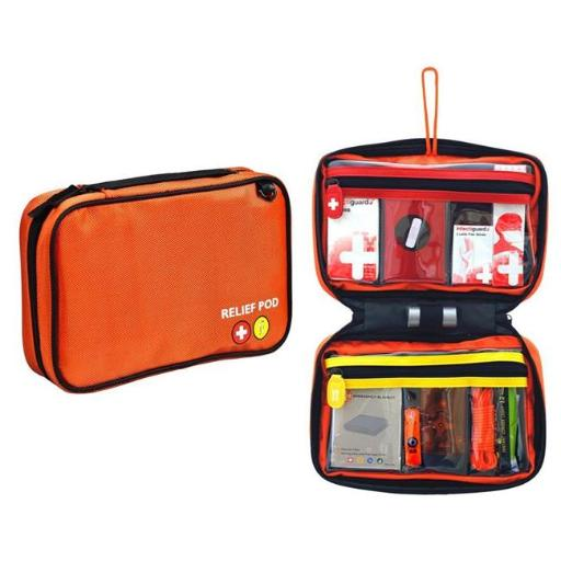 Relief Pod RP122-099K Home Safety Kit with 32 Items, orange CUU5NQ61NAM71YLB