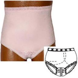 Options Ostomy Support Barrier 8081001ML 37 - 41 in. Split Lace Crotch with Built in Barrier & Support - Pink, Medium