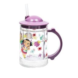 Childs Doll Girl Straw Cup