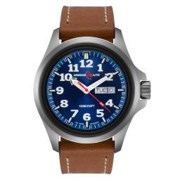 ArmourLite Officer Series AL823 Steel Watch, Tritium Illumination, Leather Band