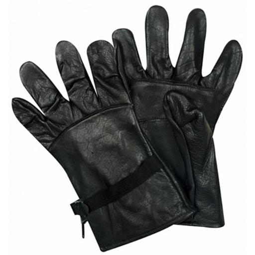 Fox Outdoor 79-235 04 GI Type Leather Glove Shell, Black - Size 4 ESUQ0K6ZLEED1FPX