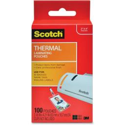 3m mobile interactive solution tp5852-100 thermal pouches, id badge without clip