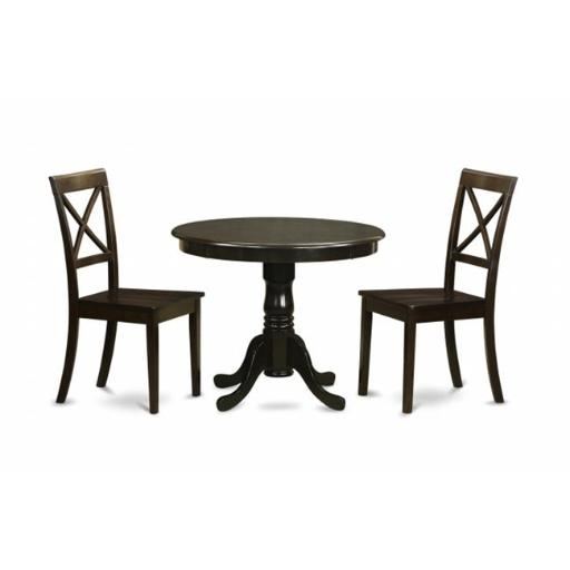 3 Piece Kitchen Table Set-Drop Leaf Table Plus 4 Dining Chairs