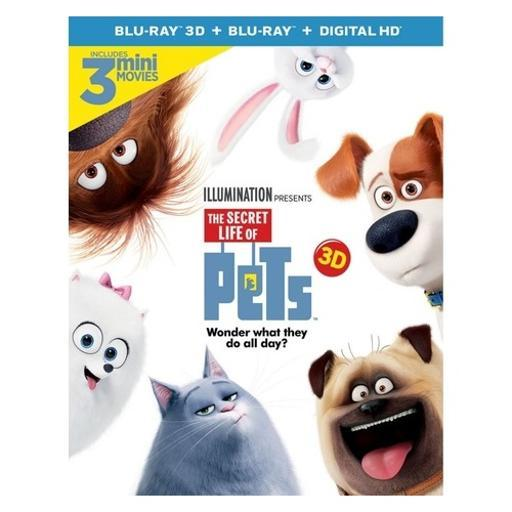 Secret life of pets (blu ray/3d/digtial hd/uv/2 disc) (3-d) SPKDDWEKF2VPQD1P