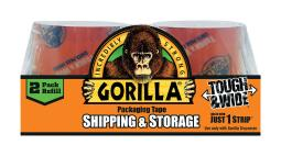 Gorilla 2.88 in. W x 60 yd. L Tape Clear - Case Of: 1; Each Pack Qty: 2; Total Items Qty: 2