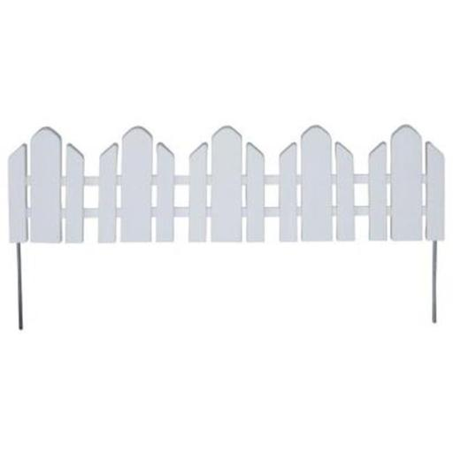 Dackers Resin Adirondack Style Garden Fence, 22 ft.