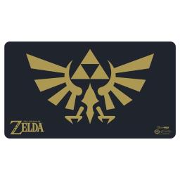 Ultra Pro ULP85207 24 in. Wide x 13.5 in. Tall The Legend of Zelda - Black & Gold Playmat with Playmat Tube