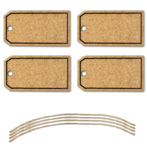 MultiCraft Cork Tags 4/Pkg W/Jute Cord-Bag Tag S3U6MZIJDUQHPT6J