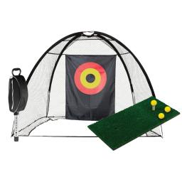 JEF World of Golf Complete Home Practice Range with Mat and Shag Bag