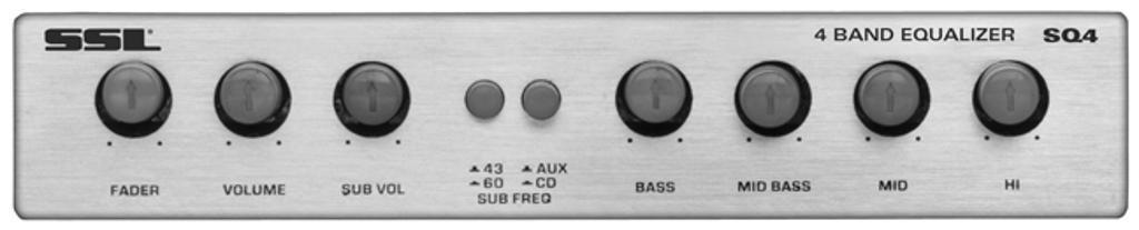 Sound Storm Laboratories Sq4 Soundstorm 4 Band Equalizer