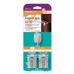 Kidco s3362 white kidco magnet lock and key adhesive mount 2 locks and key white