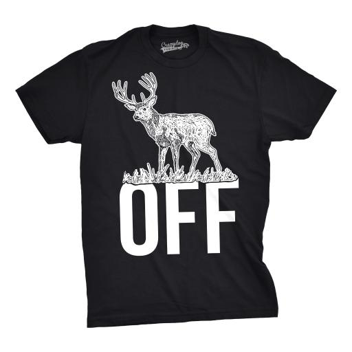 Mens Buck Off Funny T shirts Hunting Deer Tee Hilarious Offensive Novelty T shirt