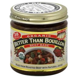BETTER THAN BOUILLON BASE BEEF ORG-8 OZ -Pack of 6