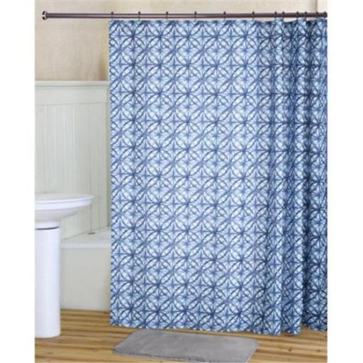 RT Design Tanner Shower Curtain, Liner & Roller Hooks