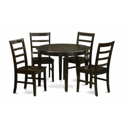 East West Furniture BOPF5-CAP-W 5 Piece Kitchen Table Set-Dining Table and 4 Dinette Chairs