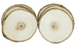 Spccal457 spc wood slice round 4 5 natural 6pc